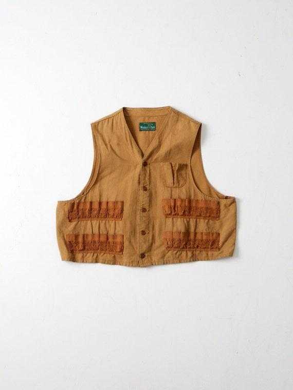 vintage Western Field Montgomery Ward hunting vest