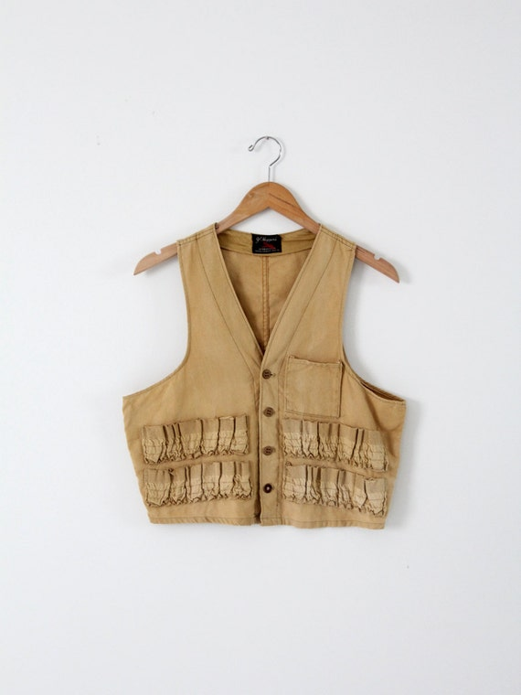 vintage hunting vest,  JC Higgins men's ammunition