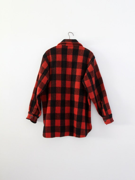 vintage 1940s Woolrich shirt,  red plaid jacket - image 3