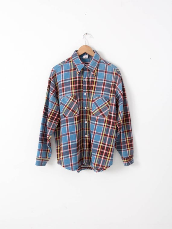 vintage Big Mac flannel shirt, plaid flannel shirt