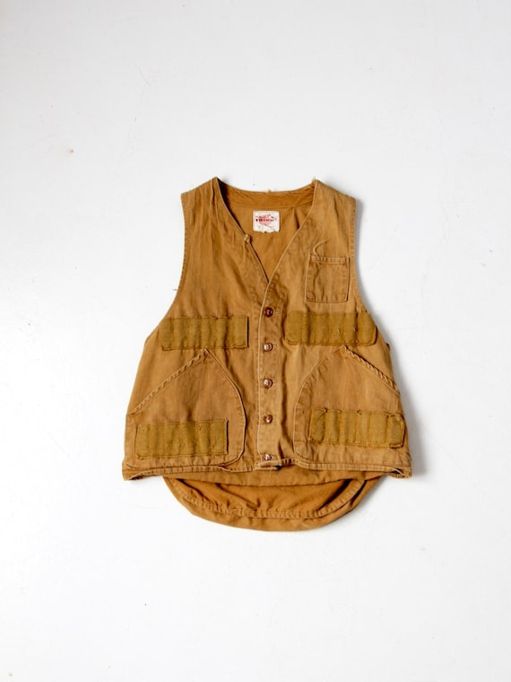 vintage 1960s hunting vest, Trailmate Trigg canvas