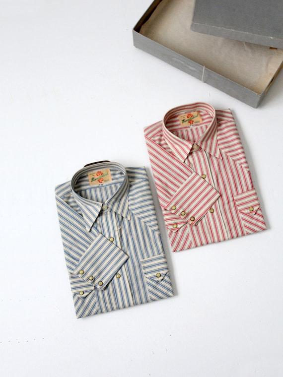 1950s Thunderbird western shirts,  2 men's shirts,