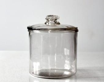 MI Lola cigar humidor,  1920s clear glass jar,  tobacco jar