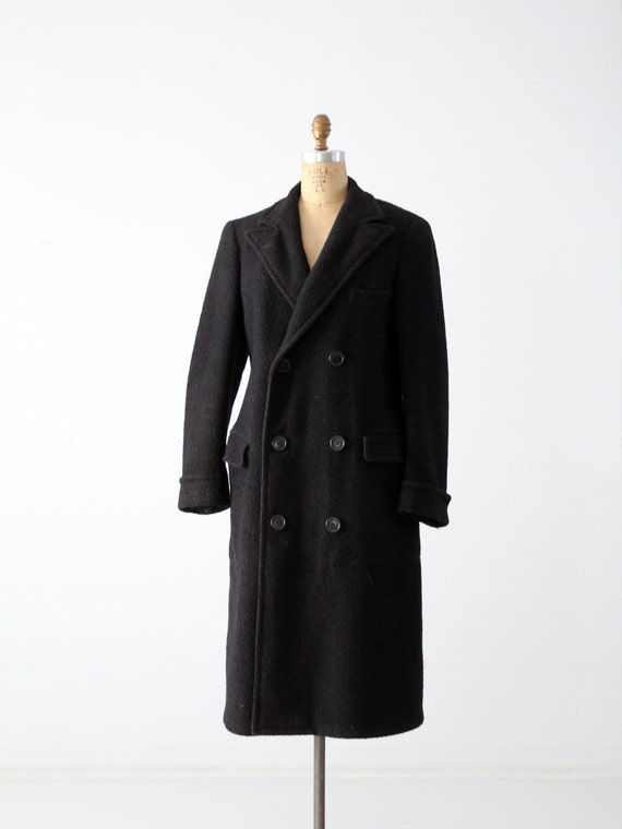 1930s JC Penney wool top coat, double breasted men