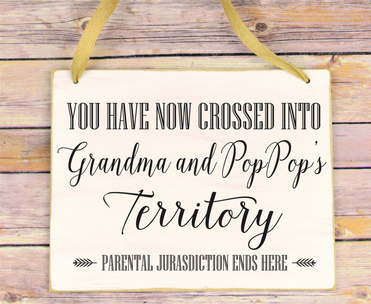 Christmas Gift for Grandparents Funny Sign for Grandma or ...
