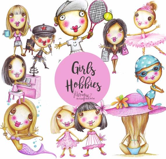Clipart Girls Hobbies And Sports Mermaid Ballerina Fairy Etsy