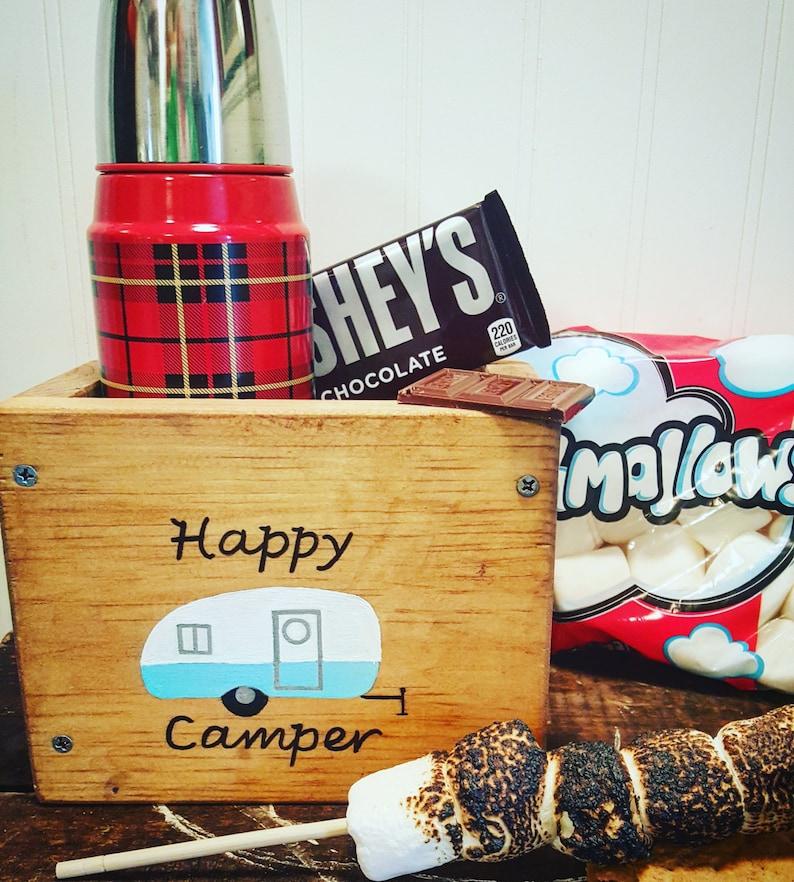 Happy camper wooden box RV living decor Airstream Camping ...