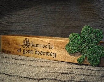 Shamrock Irish box, St Patty's Day accent, St. Patrick's day home decor, Wooden box, Shamrocks at your doorway, Luck of the Irish, Shamrocks