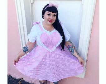 Pink gingham Sweetheart dress