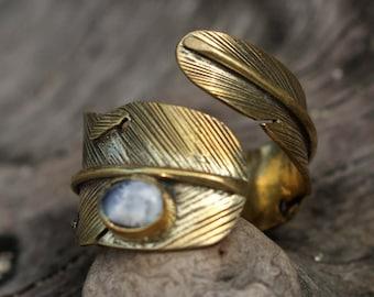 FEATHER RING, brass ring,ornate, brass jewelry, unique jewelry, hippiechic, bohochic, gypsy, brass casting