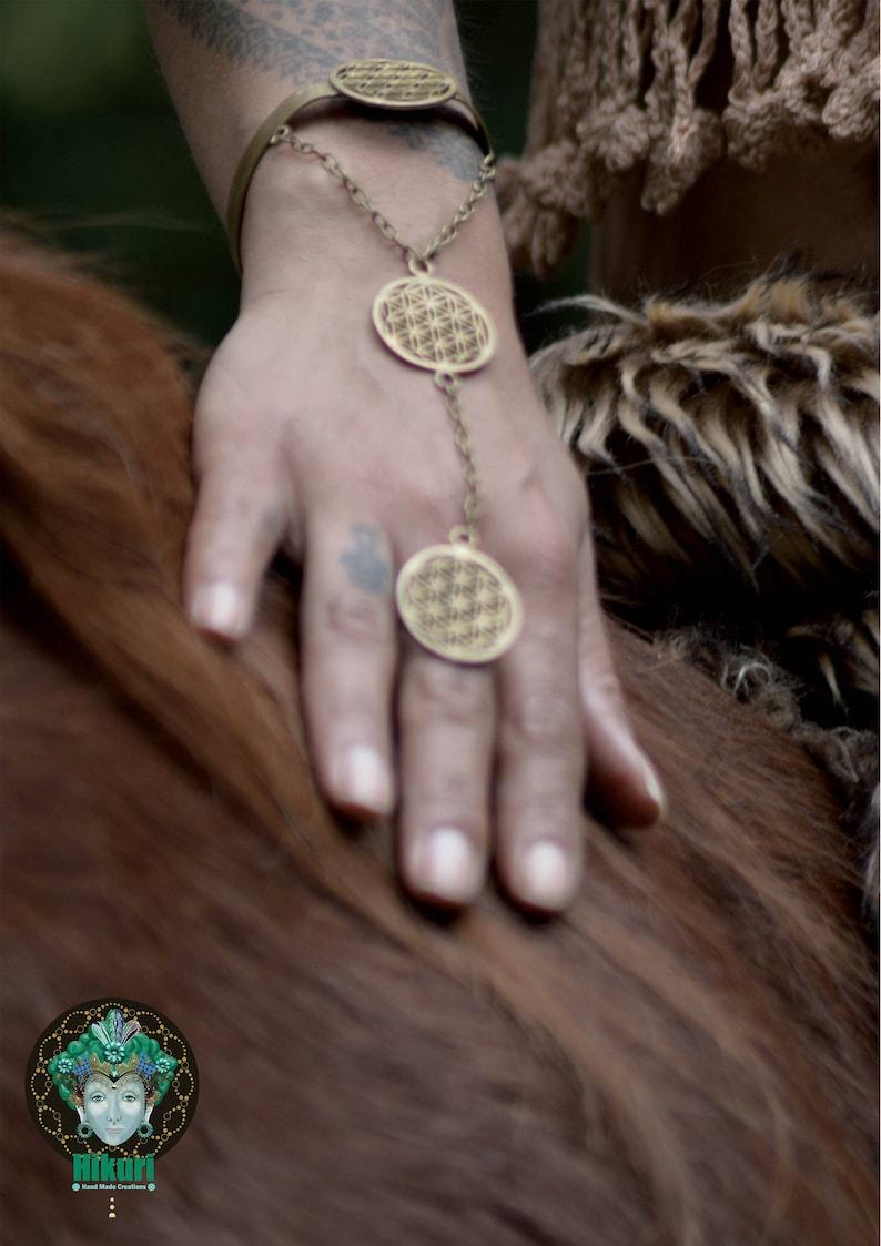 28c5c43aac FLOWER OF LIFE , flower of life bracelet, brass bracelet, sacred geometry,  sacred geometry jewelry, bohochic, hand decor, hand jewelry
