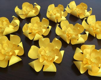 Scrapberry curly yellow paper flowers 8pkg yellow paper flowers mightylinksfo