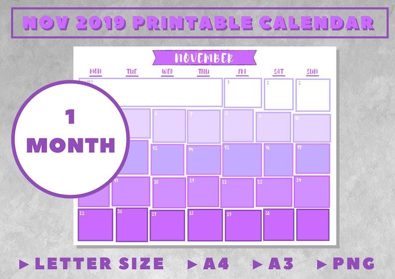 graphic regarding Printable Calendar for November titled Printable Calendars November 2019 Month to month Wall Calendar
