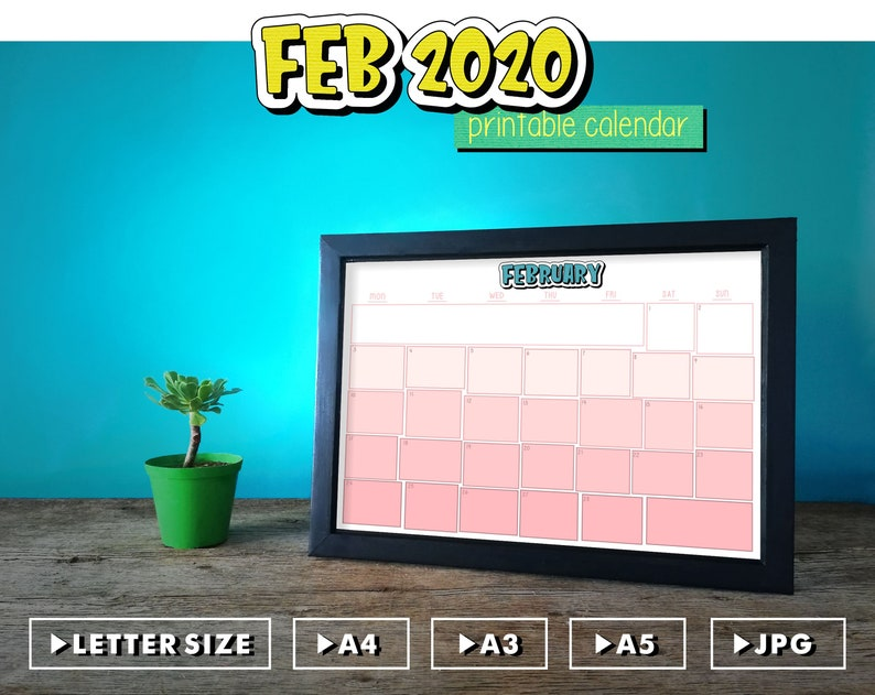 Printable ChildrenS February 2020 Calendar Fun Printable Calendar February 2020 Life Planner For Ladies | Etsy