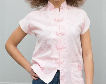 Vintage 80s Chinese Button Up Tee
