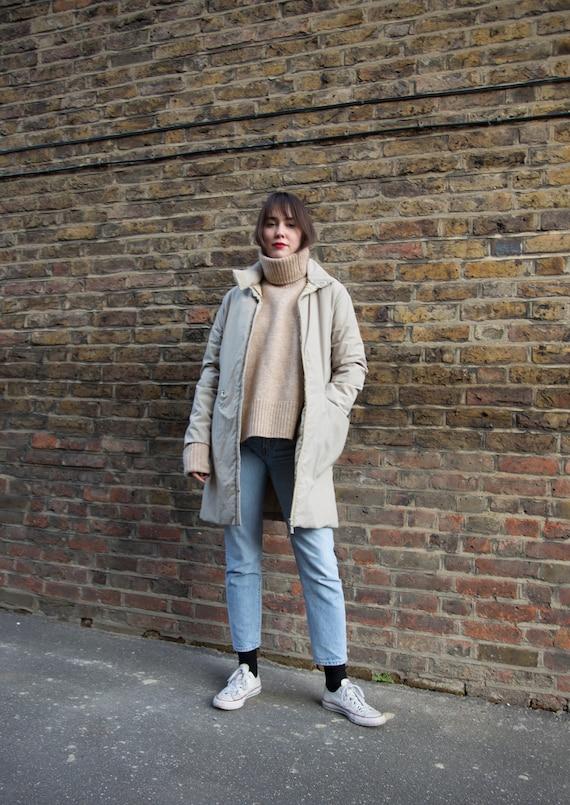 Vintage Beige Moncler Down Jacket