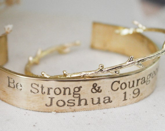 Be Strong And Courageous | Joshua 1:9 | Bible Verse Jewelry | Christian | Religion | Cancer Survivor | Cancer Patient | Inspirational Gift