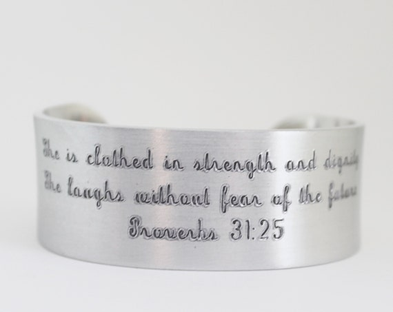 Proverbs 31 25 | She Is Clothed In Strength And Dignity | She Laughs Without Fear Of The Future | Bible Verse | Inspiration for Her | Gift