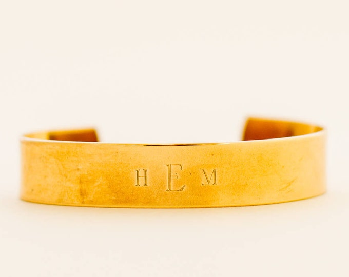 Featured listing image: Gold Monogram Bracelet | Medical ID Bracelet | Name Jewelry | Initial | Thinking of You Gift | Just Because | Gift for Friend | Layered