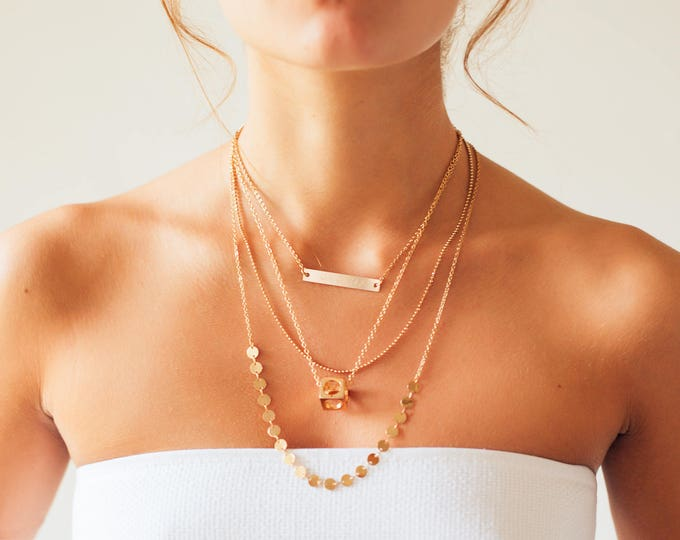 Featured listing image: Freedom | Gold Box Necklace | Empowering | Inspiration for Her | Symbolism | Wild and Free | Free Spirit | Clearance Sale | Costume Jewelry