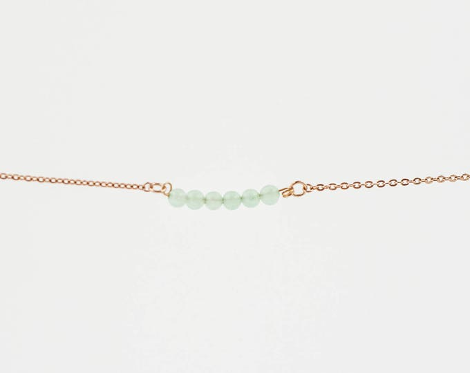 Featured listing image: August Birthstone | Delicate Peridot Stone | Bracelet | Anklet | Necklace | Stack | Stacking | Layering | Gemstone Bar | Custom Jewelry