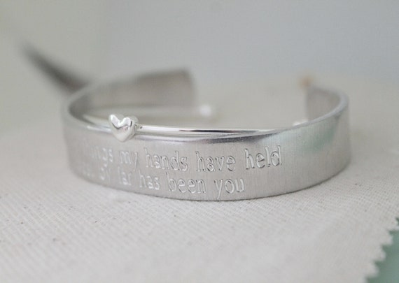 Of All The Things My Hands Have Held, The Best By Far Is You   Mama Bracelet   New Mommy   Momma Jewelry   Mommy Bracelet   Cuff Bracelet