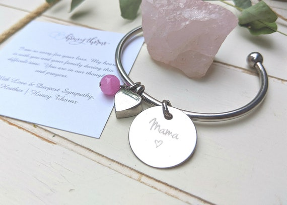 Loss of Dad | Loss of Mom | Memorial Gift | Urn Jewelry | Cremation | Bangle Bracelet | Charm Bracelet | In Memory Of | Keepsake | Sympathy