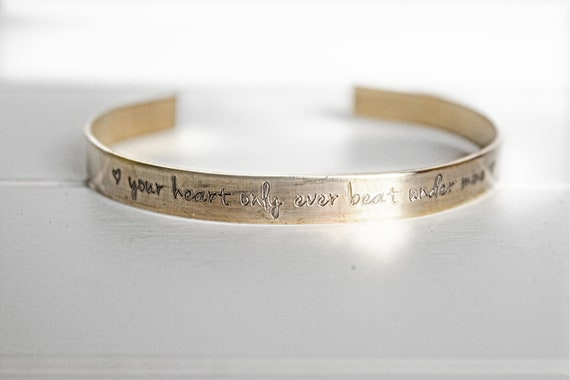 Your Heart Only Ever Beat Under Mine | Miscarriage Gift | Infant Loss | Sympathy Gift | Miscarriage Keepsake | Miscarriage Memorial