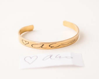 Actual Handwriting Bracelet | Handwriting Jewelry | Signature Jewelry | Mother's Day Gift | Mother of the Groom Gift | Grandmother Gift