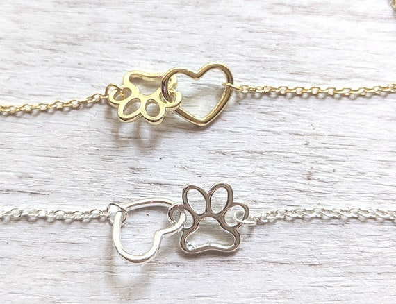 Loss Of Pet Gift For Kids | Pawprint Necklace | Rainbow Bridge | Loss of Pet | Dog | Cat | Child's Sympathy Gift | Pet Memorial | Family Pet