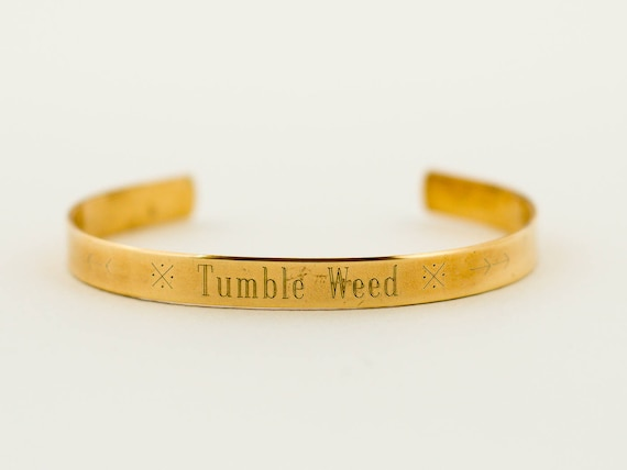 Tumble Weed | Christmas | Stocking Stuffer | Gold Cuff Bracelet | Layering Cuff | Stacking Bangle | Stacking Cuff | A Gift For The Traveler