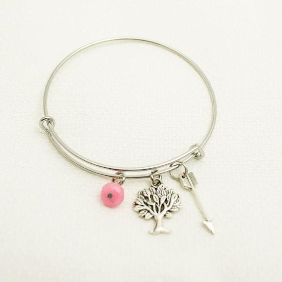 Inspirational | Tree of Life | Arrow Symbolism | Simple Bangle Bracelet | Charm Bangle | Native American Symbolism | Charm Bracelet