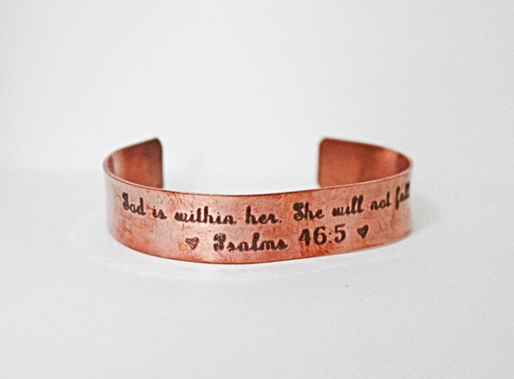 God Is Within Her She Will Not Fall | Psalm 46:5 | Bible Verse Jewelry | Christian | Inspirational Gift | Sunday School Teacher