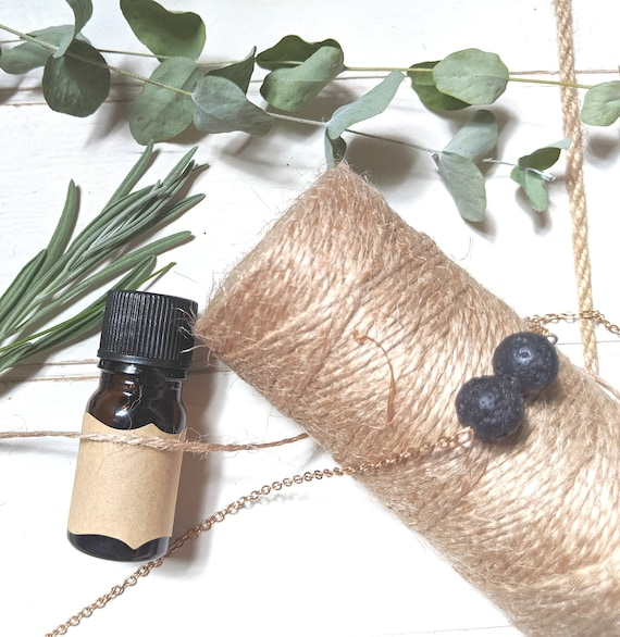 Diffuser Necklace | Morning Sickness | Migraine | Aromatherapy Necklace | Essential Oil Blends | Lava Rock | Calming Oil Jewelry | Lava Bead