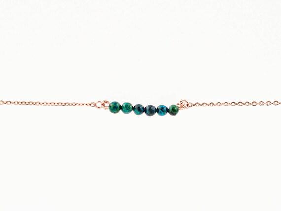 May Birthstone | Phoenix Stone | Bracelet | Anklet | Necklace | Stack | Stacking | Layering | Gemstone Bar | Simple