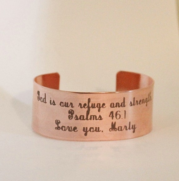 Psalms 46 1 | God Is Our Refuge And Strength | Bible Verse | Inspiration For Her | Christian Jewelry | Gift For Teacher | Miscarriage