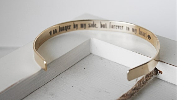 Pet Memorial | Pet Loss Gift | No Longer By My Side, But Forever In My Heart | Loss of Dog | Loss of Cat | Sympathy Gift | Remembrance Gift