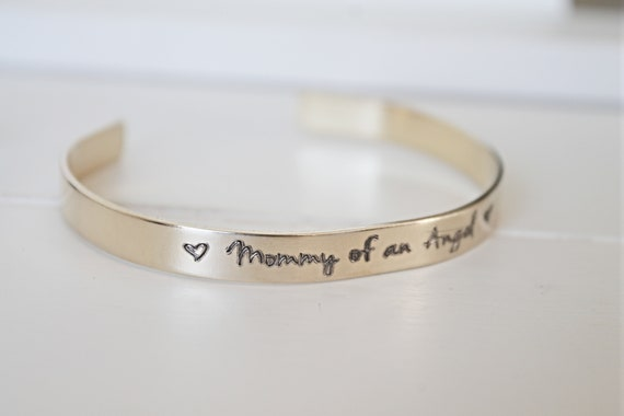 Mommy Of An Angel | Memorial Gift | Infant Loss | Miscarriage Memorial | Sympathy Gift | Loss of Baby | Bangle Bracelet | Remembrance Gift