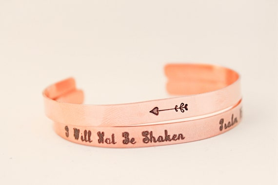 Psalm 46:5 | I Will Not Be Shaken | She Will Not Fall | She Will Not Fail | Inspiration for Her | Christian Gift | Bible Verse Bracelet