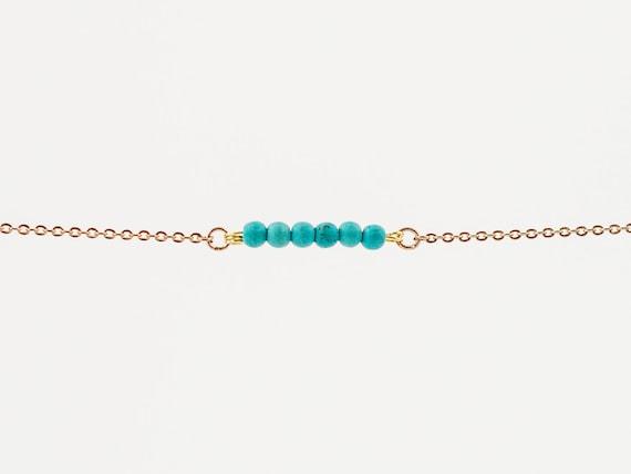 December Birthstone | Christmas Gift | Stocking Stuffer | Turquoise | Bracelet | Anklet | Necklace | Gemstone