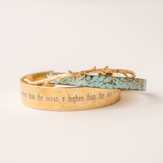 Deeper Than The Ocean | Higher Than The Sky | Mommy Bracelets | Jewelry | Layering Bracelets | Stack | Stacking | Layering | Stacked Bangles