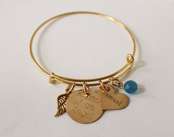 Mama Of An Angel Charm Bracelet, Grandmother Of An Angel, Child Loss, Miscarriage, Mommy Of Angel, Nana Of Angel, Loss Of Baby, Infant Loss