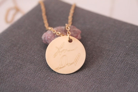 Memorial Necklace | Actual Signature Jewelry | Memorial Gift | Loss of Mother | Loss of Father | Sympathy Gift | In Memory Of | Handwriting