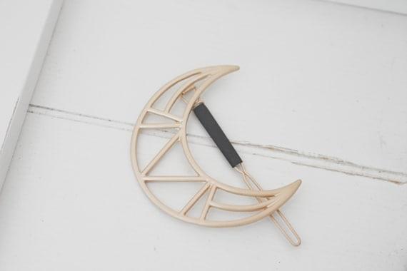 NEW Geometric Moon Hair Accessories | Hair Clips | Christmas | Stocking Stuffer | Moon Hair Barrette | Natural Style | Minimalist