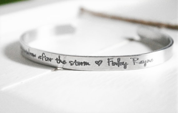 Rainbow Baby | My Rainbow After The Storm | Pregnancy | Miscarriage | Sympathy Gift | Bracelet | Cuff | Remembrance | Infertility Gift