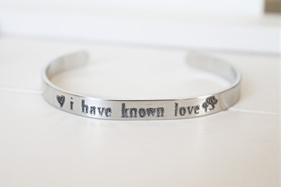 Pet Memorial Gift | Memorial Bracelet | Pet Loss Gift | Sympathy Gift | Remembrance Gift | Loss of Dog | Loss of Cat | I Have Known Love