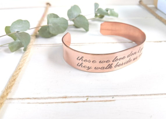 Memory Bracelet | Those We Love Don't Go Away They Walk Beside Us Everyday | Loss of Father | Loss of Mom | Memorial Gift | Sympathy Gift