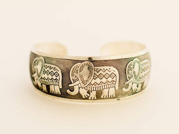 Ready to Ship | Elephant Cuff Bracelet | Boho Cuff Bracelet | Layering Bracelet | Gift for Friend | Jewelry Gifts Under 30 | Gifts Under 50