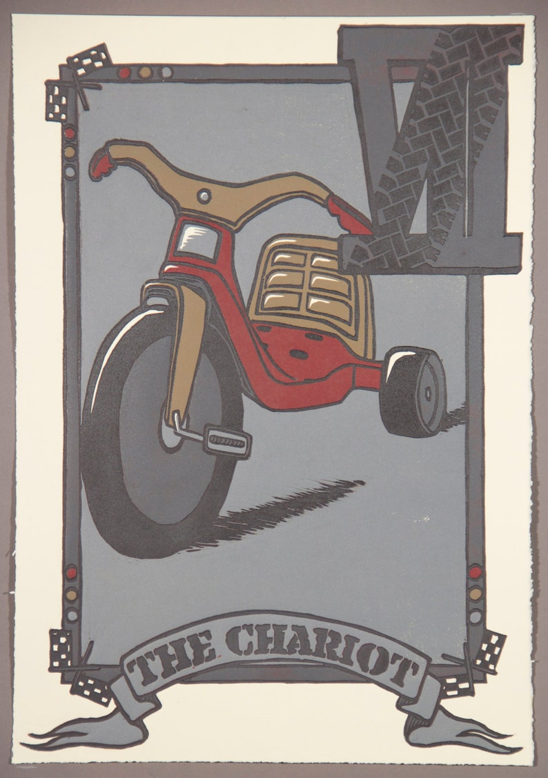 The Chariot: Tarot Card Print