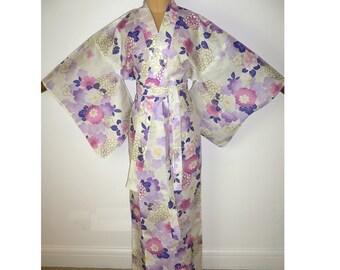 f1f4df89d6 Japanese Authentic Yukata Cotton Kimono Robe Dressing Gown